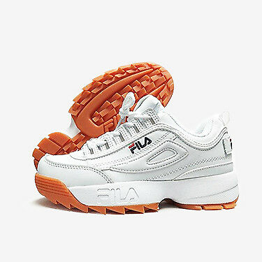 fila blanco rubber zapatillas Naranja