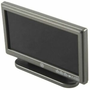 Dollhouse-Miniature-Widescreen-Flat-Panel-LCD-TV-with-Remote-Gray-N3