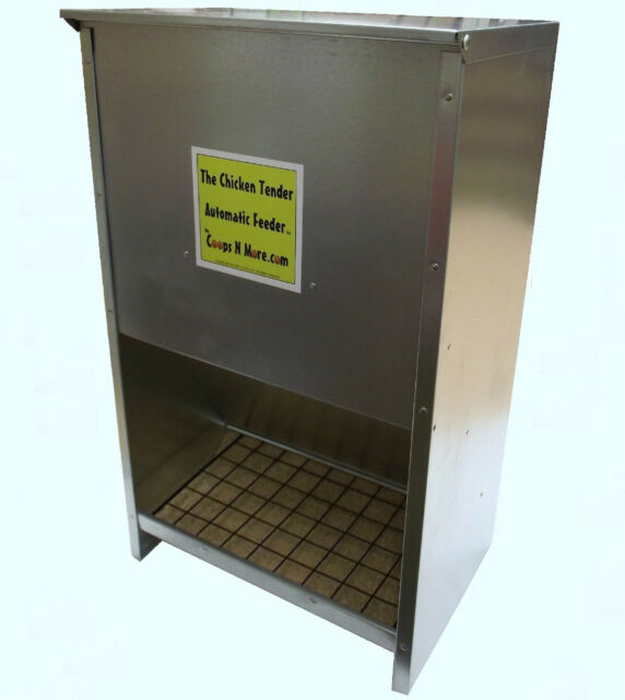 AUTOMATIC 70# COVERED AREA GALVANIZED FEEDER FOR CHICKEN COOP HEN HOUSE POULTRY
