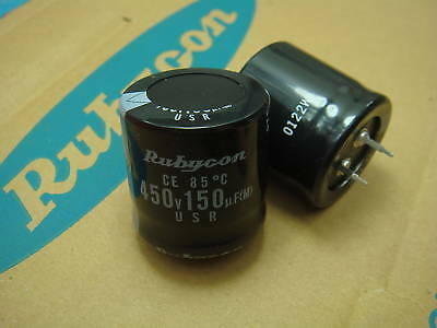 3pcs 150uF 450V150uf 18x45 Rubycon TXW long life miniaturized Capacitor
