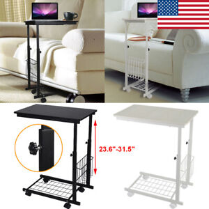 Height-Adjustable-Desk-Detachable-Wheels-Sofa-Side-Laptop-Computer-Table-Shelf