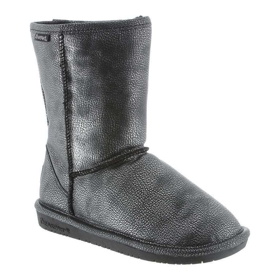 Women Bearpaw Emma Short Boot 608W-860 Black Silver 100% Authentic Brand New