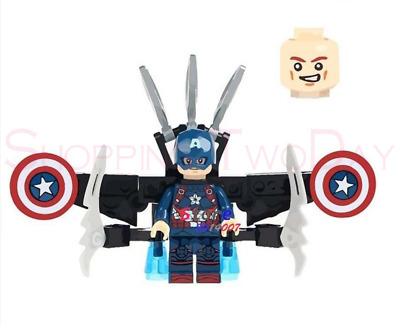 CAPTAIN AMERICA FLYING AVENGERS MARVEL LEGO MOC CUSTOM MINIFIGURES BRICKS BLOCKS