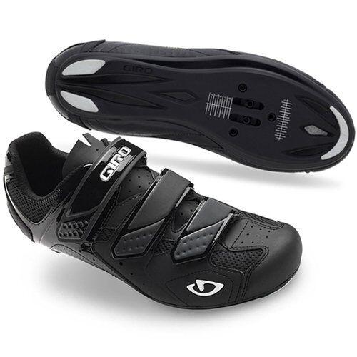 Giro agudos II Bicicleta Bici de fibra sintética Zapatos transpirables, Negro Mate