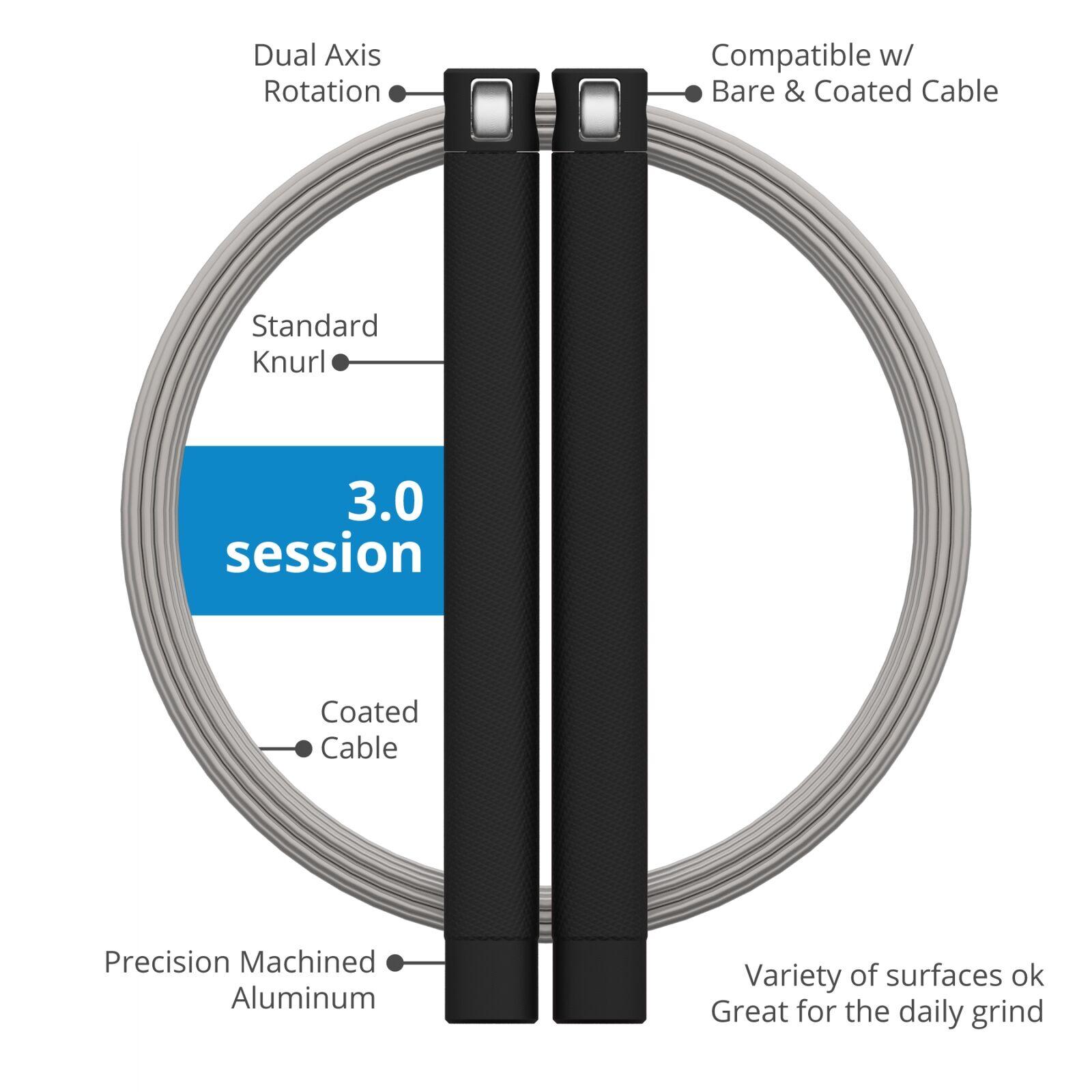 RPM Fitness Corde de vitesse Session CROSSFIT SAUTER diverses couleurs 2.0 & 3.0