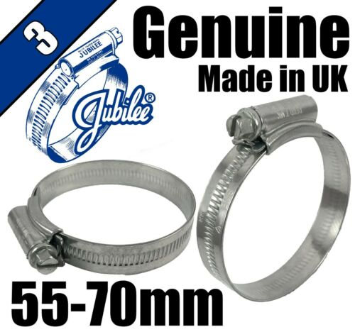 Genuine Original Jubilee Clips Steel Hose Pipe Clamps Worm Drive 55mm 70mm 3