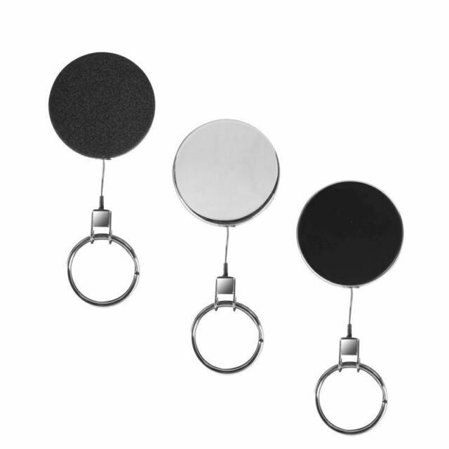 5 x schwerer Metall-Jojo 43 mm schwarz mit Schlüsselring und Stahlschnur