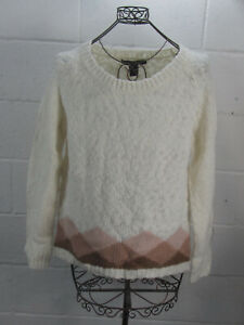 New-Marc-by-Marc-Jacobs-White-Wool-Blend-Sweater-Size-L-Large-NWT-238