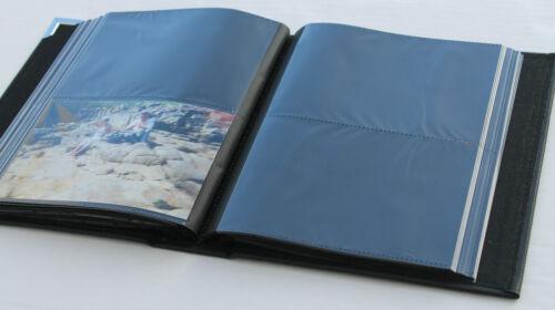 Album photo 200 pochettes 10x15 Neuf pages noir compact couverture rigide classe