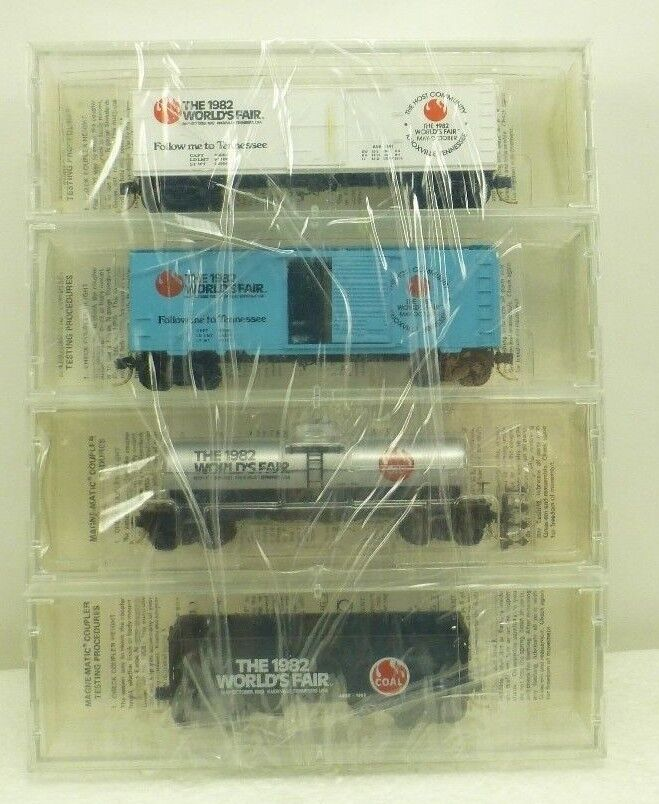 Kadee Micro-Trains Special Run NSC 82-18 Aksarben 1982 World's Fair Four Cars