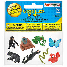 Rainforest Fun Pack Mini Good Luck Figures Safari Ltd NEW Toys Educational Kids