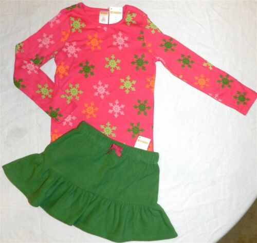 Skirt Outfit Gymboree 2pc Green Pink School Winter Girl size 5 6 or 7 New