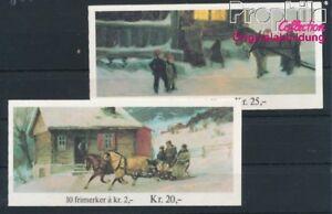 Norwegen-894MH-895MH-2-Markenheftchen-postfrisch-1983-Weihnachten-8940421