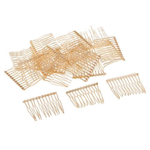 20 Stücke Blank Metall Haarspange Slide Side Hair Comb 12 Zähne für DIY