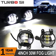 "Cree 4"" Round LED Fog Lights Driving Lamp DRL 07-15 JEEP Wrangler JK TJ CJ 30W"