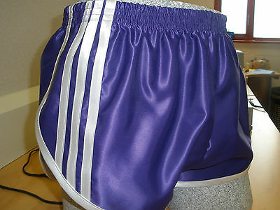 Retro Nylon Satin Sprinter Shorts S to 4XL Purple /& Lilac
