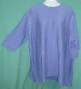 NEW-Making-it-Big-Sz-5X-H-Lapis-Blue-Pullover-Sweater-Top-Fits-34W-36W