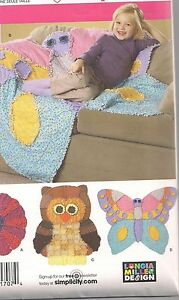 Simplicity Flower Butterfly Owl Rag Quilt Pattern 2935 | eBay