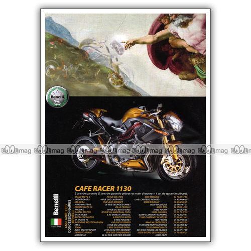 PUB BENELLI CAFE RACER 1130 Publicité Moto de 2006 Original Advert
