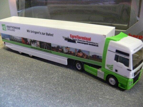 1 1 1 87 HERPA MAN tgx xxl route Emsland valise-semi-remorque 923651 24f8ba