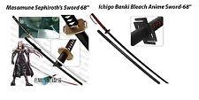 "Final Fantasy Masamune Sephiroth's Sword 68"" + Ichigo Banki Bleach Anime 68"""