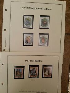Jamaica-21st-BD-of-Princess-Diana-and-St-Lucia-Royal-Wedding-Stamps