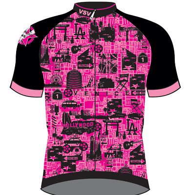 pink //Grey Bioceramic Women/'s CYCLING SHORT SLEEVE JERSEY Made in Italy by GSG