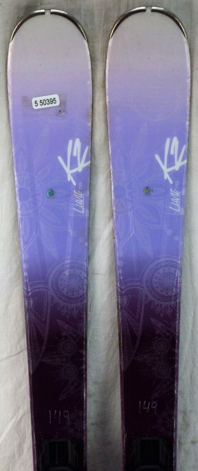 15 - 16 K2 Luxi 76 modelo de esquí de segunda mano para mujeres de tamaño 149cm
