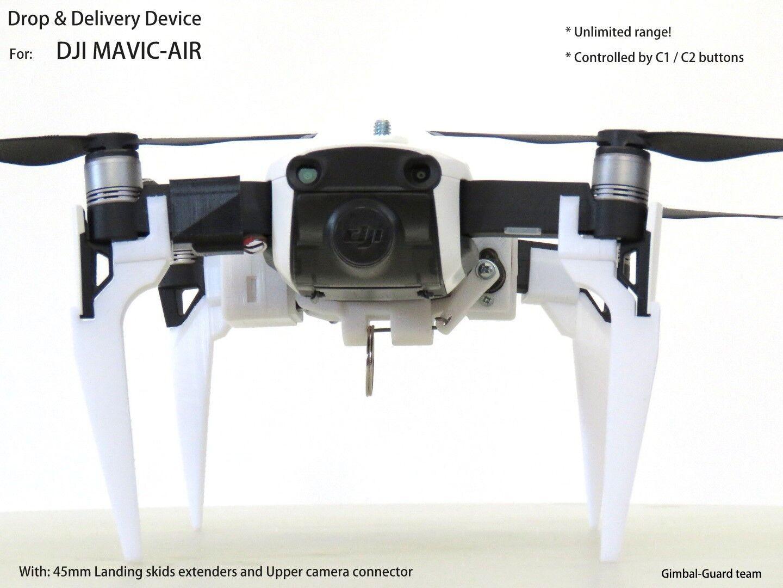 Drop device for dji mavic Air.  Drone  fishing   Rescue. With 75mm Sbambini  garanzia di qualità