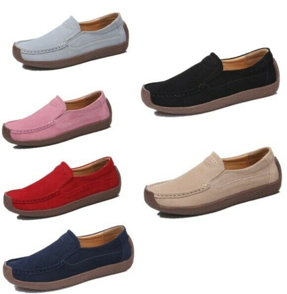 Womens Casual Flat Non-slip Slip On Pregnant Nurse Loafer Moccasin Driving shoes