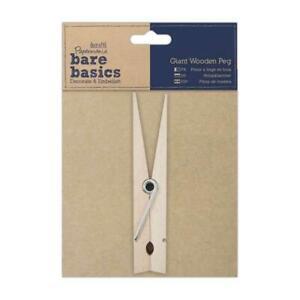 Papermania Bare Basics gigante in legno Peg Decoupage Scrapbooking Decorazione Artigianato