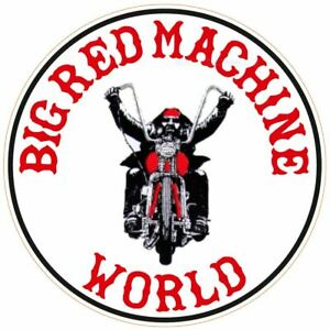053g-Hells-Angels-Sujetador-81-Big-Rojo-Maquina-World-Pegatina-Ciclista-Peq-Rund