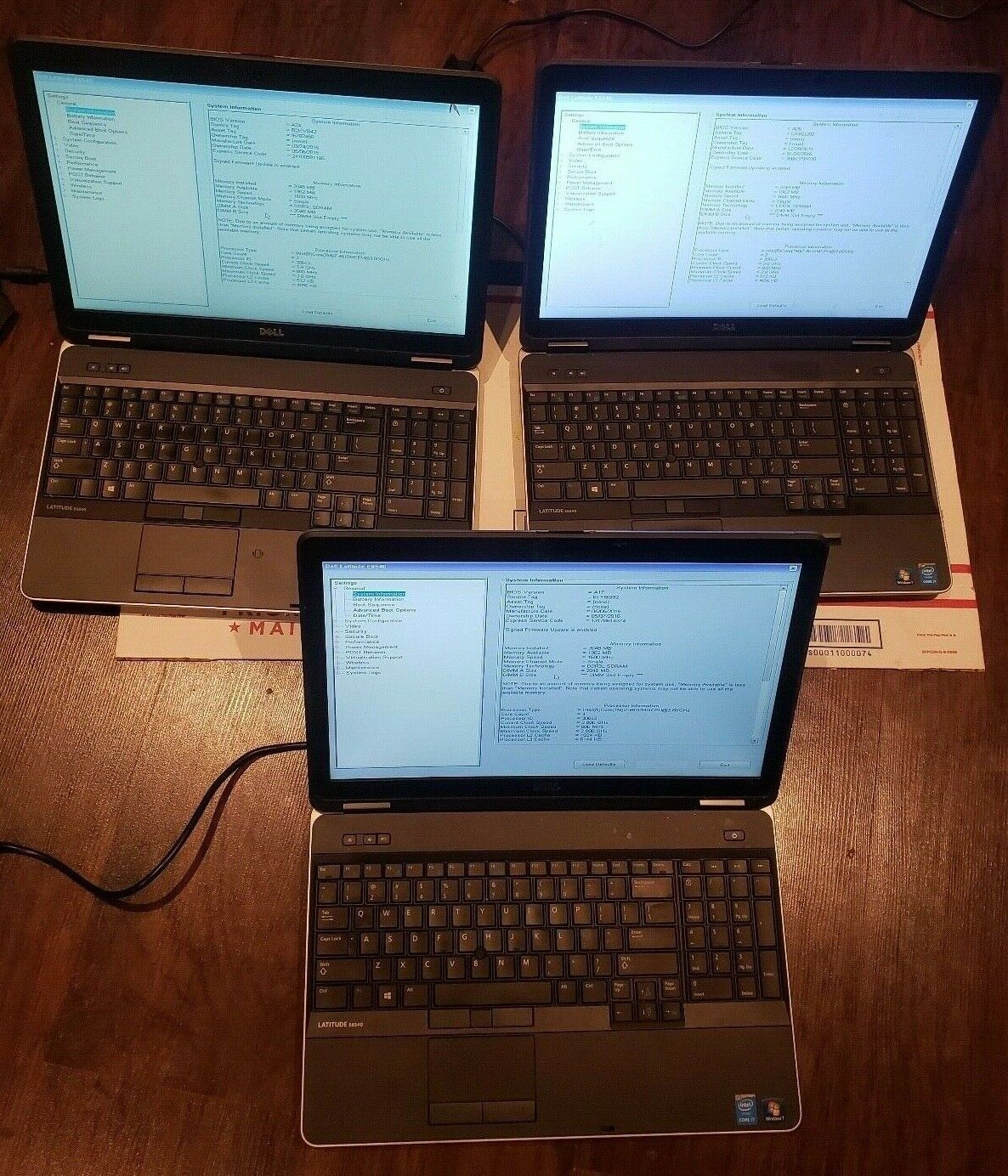 Lot of (3) Dell Latitude E6540 i7-4810M & 2X I7 4610 4GB RAM PARTS/REPAIR BOOTED. Buy it now for 489.99