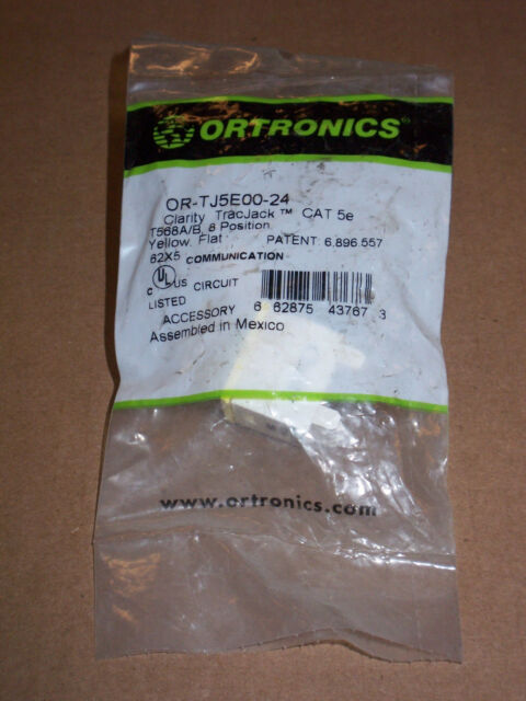 Cat 5e 25 Ft Patch Cable: Ortronics Clarity Ortronics Yellow