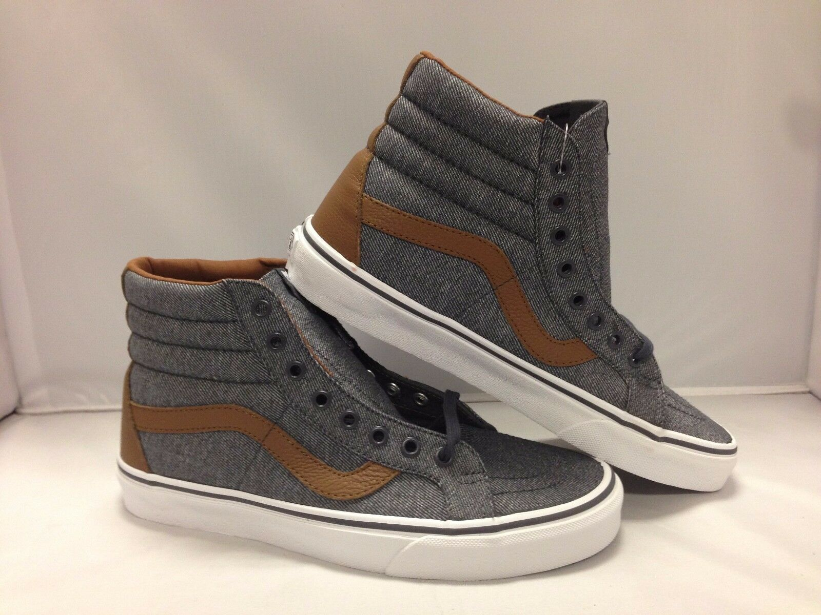 Vans Men's Shoes ''Sk8-Hi Reissue''--(Denim C&L)Prscp/Dachshnd