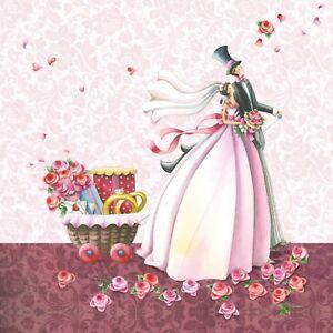 20-Servietten-034-GLUCKLICHER-TAG-034-33x33-Napkins-Hochzeit-Blumen-Geschenke-Rosen