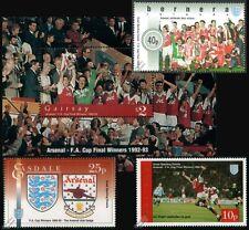 ARSENAL FC / FA CUP Winners 1992-1993 Football Stamps (Ian Wright / Tony Adams)