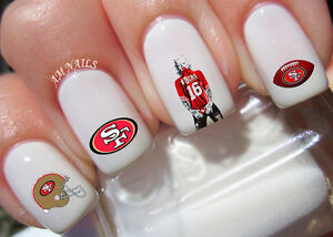 San Francisco 49ers Nail Art Stickers Transfers Decals Set Of 37 Ebay