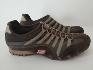Details about SKECHERS Straight Away Women's Biker Shoes Size 7.5M Brown Slip Ons 21552