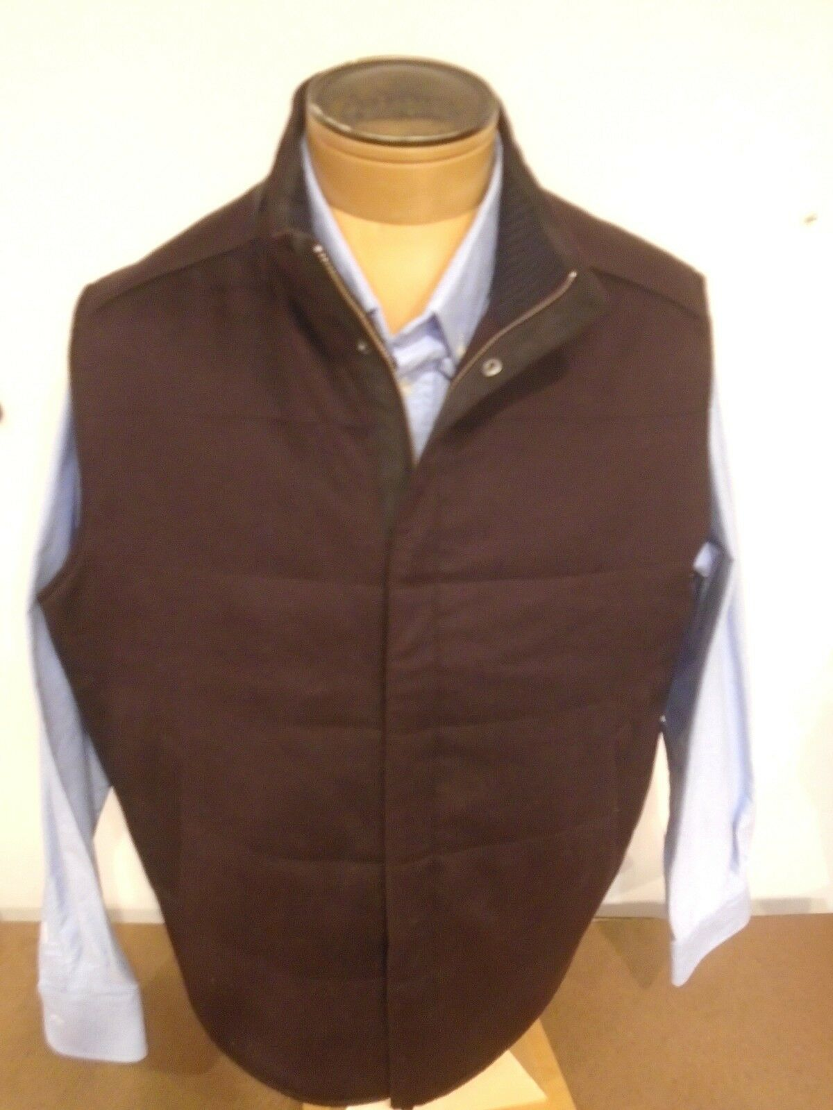 Peter Millar Grünwich Wool & Cashmere Quilted Vest NWT XXL 425 Braun
