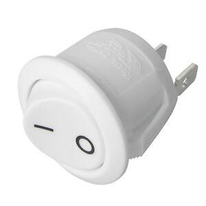 weisser-Wippschalter-rund-EIN-AUS-schaltend-250V-10A-mini-Schalter-weiss