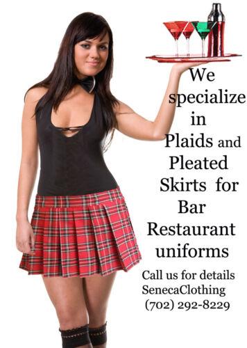 "BLACK and RED SCHOOLGIRL TARTAN PLAID PLEATED LONG SKIRT /""Highland 17/"" Long/"""