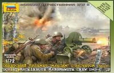 Zvezda 6104 Soviet Maxim Machinegun With Crew 1941-43 1//72
