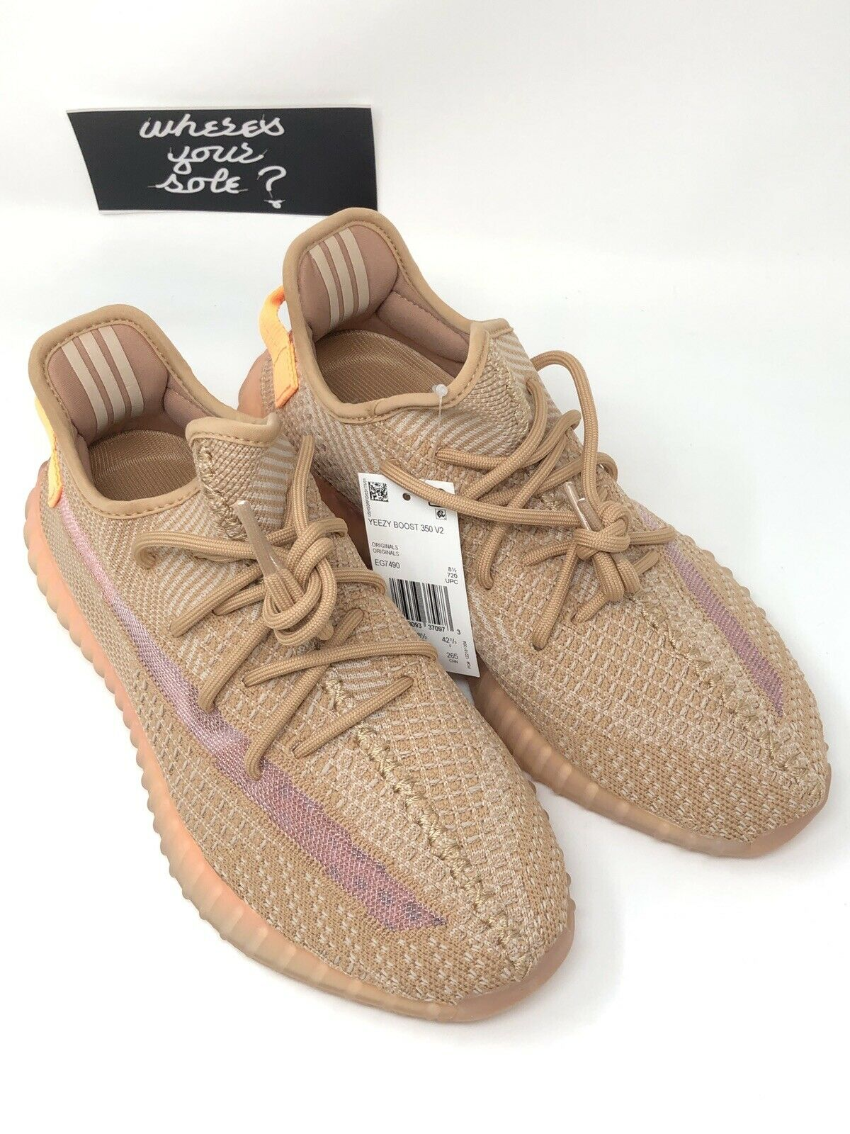 Adidas Yeezy 350 Boost V2 Clay men size 9 EG7490 DS NEW