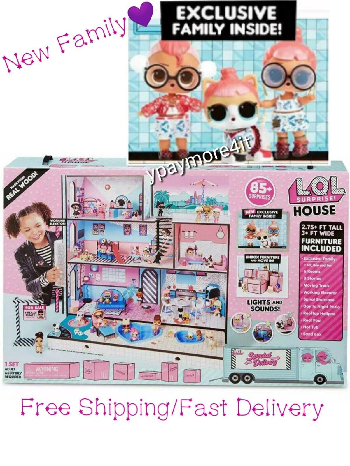 Lol Surprise Doll House 85 Surprises Wooden Multi Story Girls