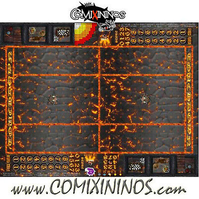 Fantasy Football - 29 Mm Lava Rollable Gaming Mat For Blood Bowl - Small Size Imballaggio Di Marca Nominata