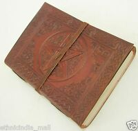 Celtic Pentagram Embossed Pagan Leather Journal Handmade Wiccan Book of Shadows