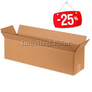 20-Stuecke-Schachteln-Karton-lange-x-Produkte-Broetchen-Teppiche-Rohre-80x15x15cm
