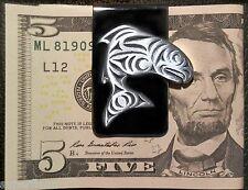 New Haida KING TYEE CHINOOK SALMON MONEY CLIP Fishermen's Symbol of Respect