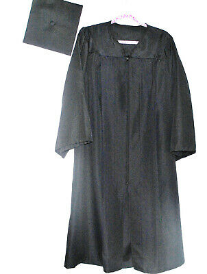 GRADUATION CAP and GOWN Many Sizes Dark Blue Herff Jones SURE FIT Cap